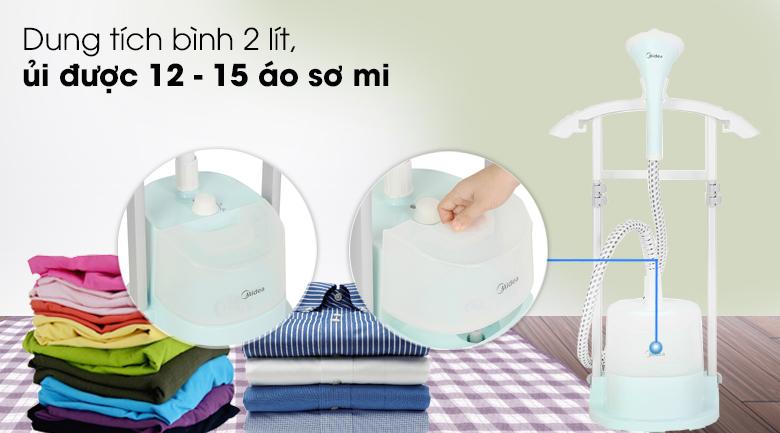 Bình chứa lớn - Bàn ủi hơi nước đứng Midea MHI-G20R1 Xanh