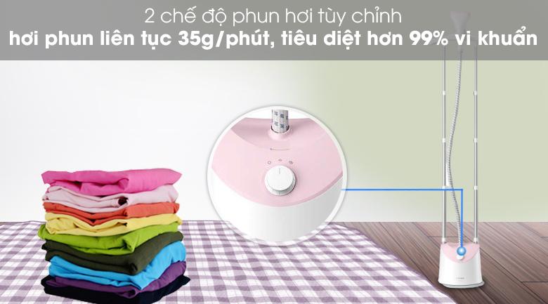 2 chế độ phun hơi - Bàn ủi hơi nước đứng Philips GC485