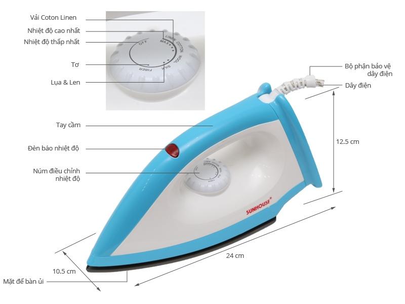 Thông số kỹ thuật Bàn ủi Sunhouse SHDI1071