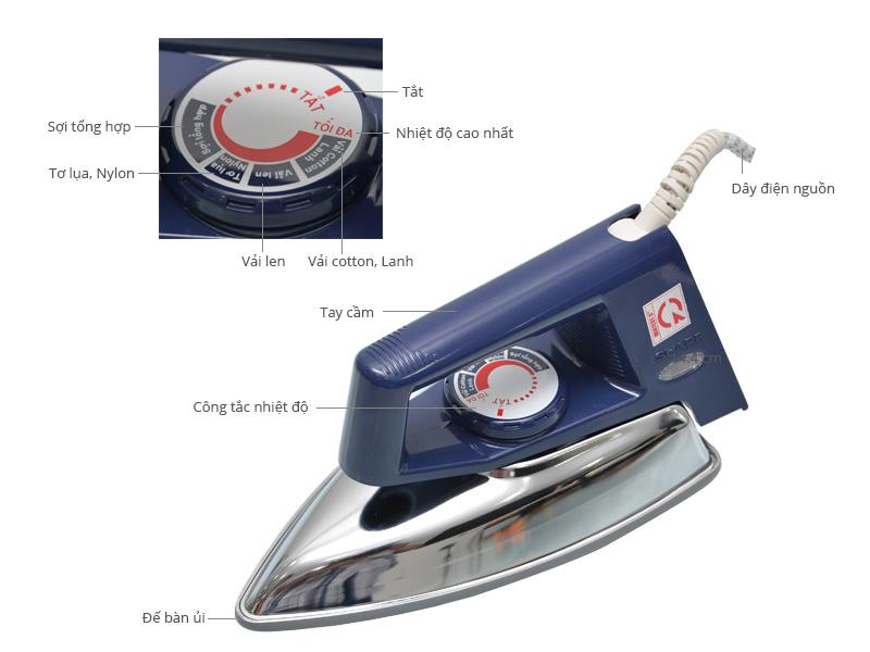 Thông số kỹ thuật Bàn ủi khô Sharp AM-P200TV