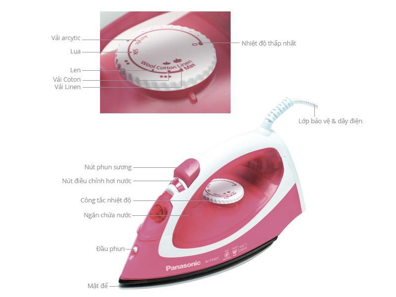 Thông số kỹ thuật Bàn ủi hơi nước Panasonic NI-P300T