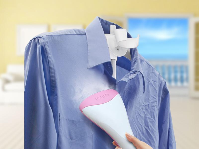 Bàn ủi có thiết kế phun hơi thẳng đứng để ủi phẳng quần áo treo trên móc, màn cửa