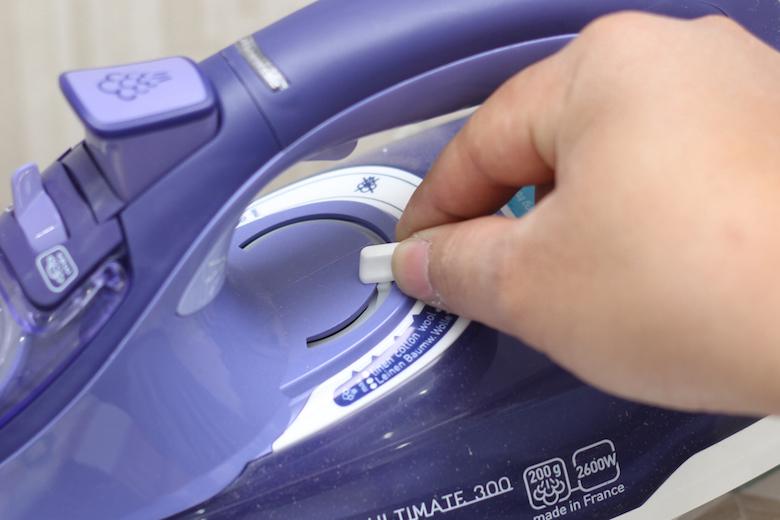 Điều chỉnh mức độ nhiệt cho từng loại vải