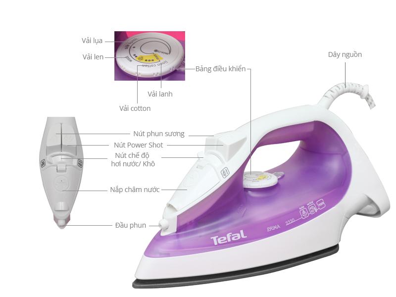 Thông số kỹ thuật Bàn ủi hơi nước Tefal FV2320