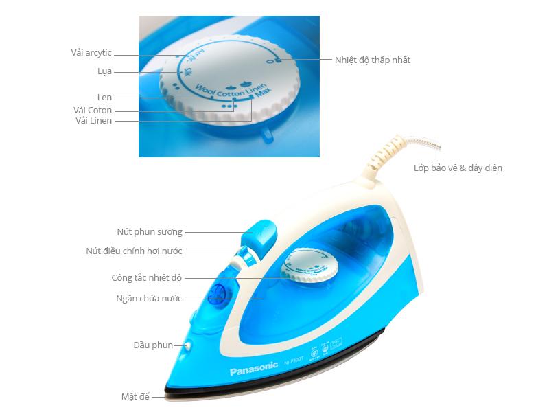 Thông số kỹ thuật Bàn ủi hơi nước Panasonic NI-P300TARA
