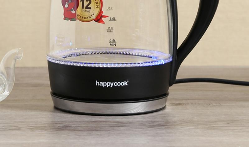 Dàn đèn báo hoạt động tiện theo dõi quá trình đun nước - Bình siêu tốc Happycook 1.8 lít HEK-182G