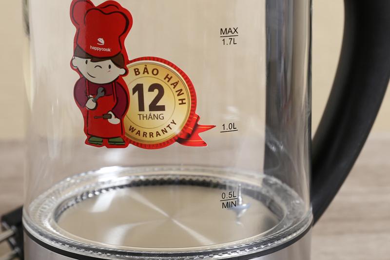 Chất liệu tốt - Bình siêu tốc Happycook 1.7 lít HEK-170GD