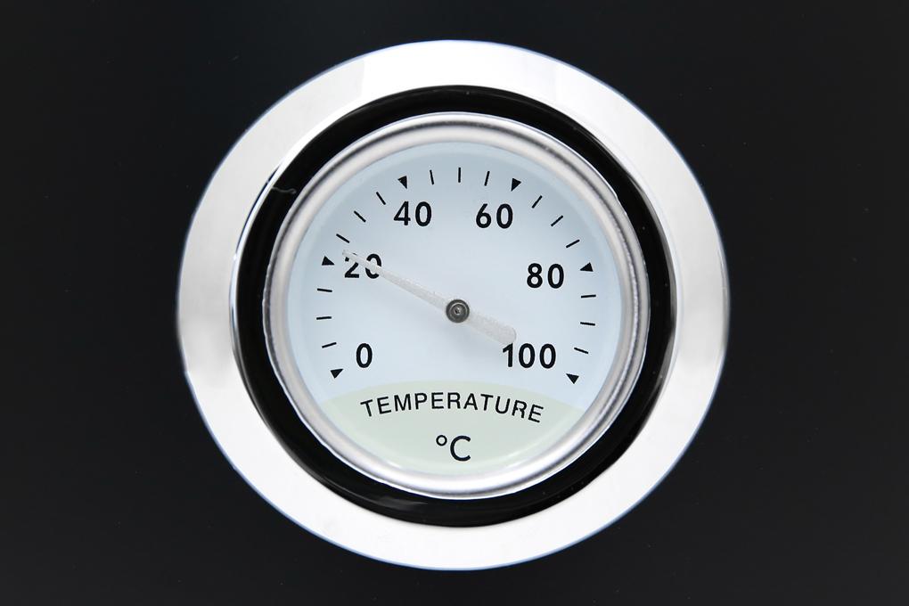 Trên thân ấm đun siêu tốc có thiết kế 1 nhiệt kế với các vạch mức nhiệt độ rõ ràng - Ấm đun siêu tốc Delites 1.7 lít ST17S05
