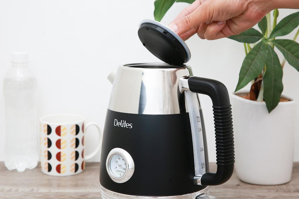 Nắp đậy thiết kế như nắp ấm trà thông thường - Ấm đun siêu tốc Delites 1.7 lít ST17S05