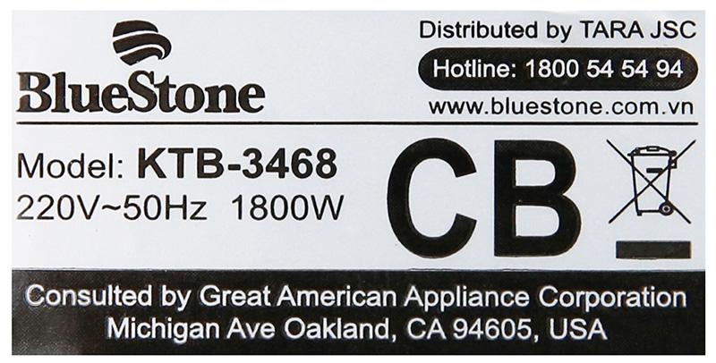 Đun nhanh - Bình đun siêu tốc Bluestone KTB 3468 1.7 lít