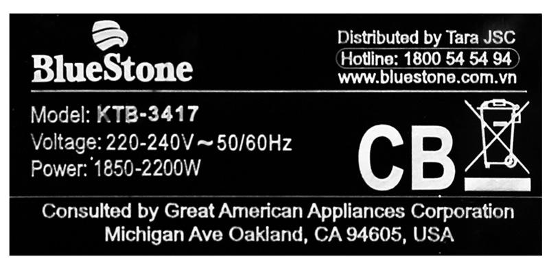 Đun nhanh sôi - Bình đun siêu tốc Bluestone KTB-3417