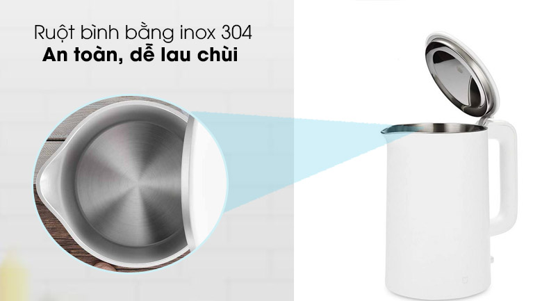 Ruột bình inox 304 - Bình đun siêu tốc Xiaomi 1.5 lít SKV4035GL