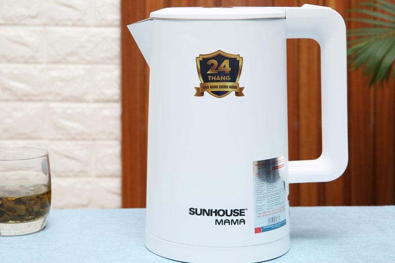 Dung tích - Bình đun siêu tốc Sunhouse Mama 1.7 lít SHD1386 Trắng