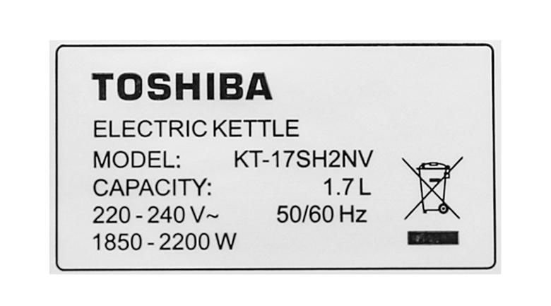 Công suất - Bình đun siêu tốc Toshiba 1.7 lít KT-17SH2NV