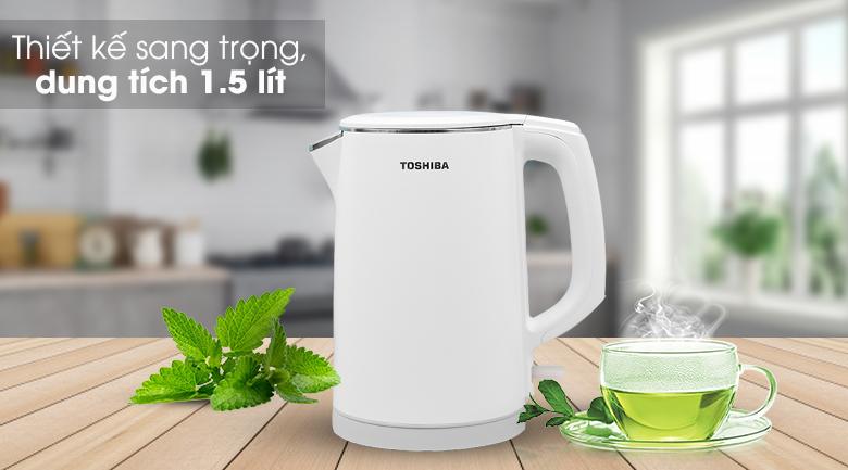 Bình đun siêu tốc Toshiba 1.5 lít KT-15DS1PV - Thiết kế đơn giản