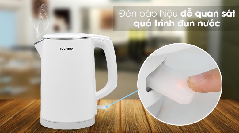 Bình đun siêu tốc Toshiba 1.5 lít KT-15DS1PV - Đèn báo hiệu