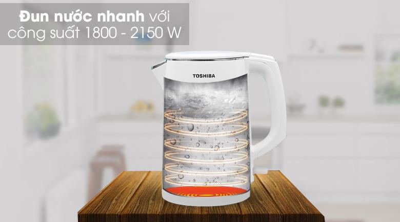 Bình đun siêu tốc Toshiba 1.5 lít KT-15DS1PV - Đun nước sôi chỉ trong 5 - 7 phút
