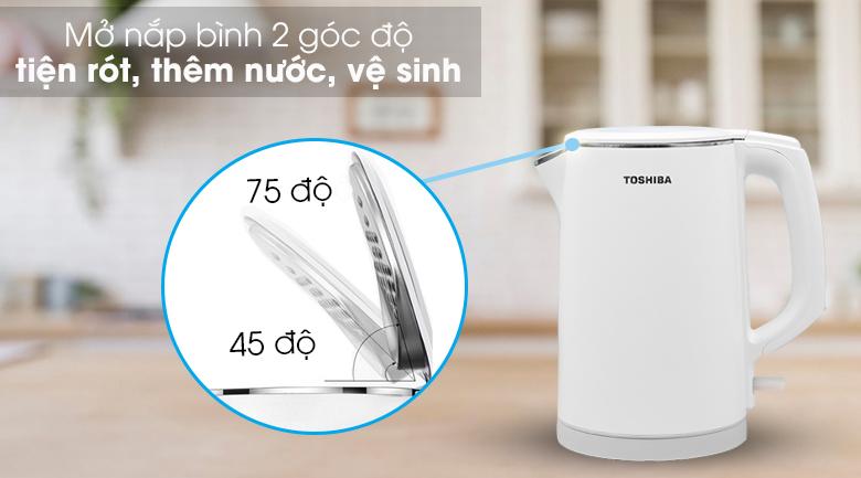 Bình đun siêu tốc Toshiba 1.5 lít KT-15DS1PV - Mở nắp đơn giản