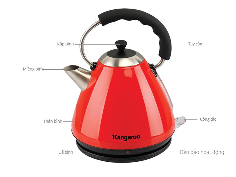 Thông số kỹ thuật Bình siêu tốc Kangaroo KG640 1.7 lít
