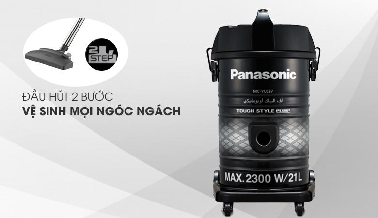 Làm sạch an toàn mọi ngóc ngách - Máy hút bụi công nghiệp Panasonic MC-YL637SN49 2300 W