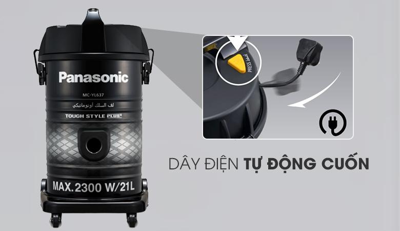Dây điện dài - Máy hút bụi công nghiệp Panasonic MC-YL637SN49 2300 W