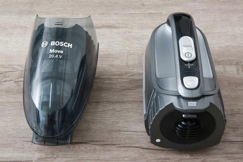 Sử dụng hộp chứa bụi - Máy hút bụi cầm tay Bosch HMH.BHN20110