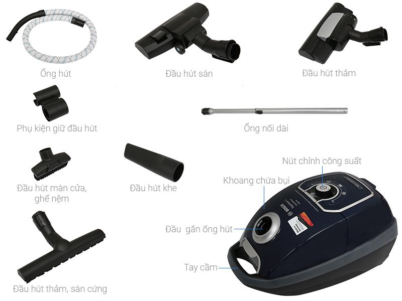 Thông số kỹ thuật Máy hút bụi Bosch HMH.BGL72294 2200W