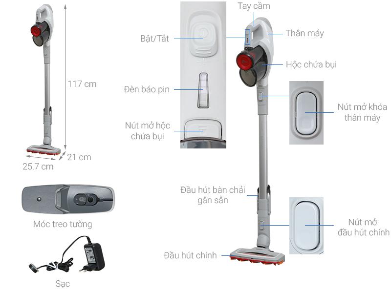 Thông số kỹ thuật Máy hút bụi Philips FC6723