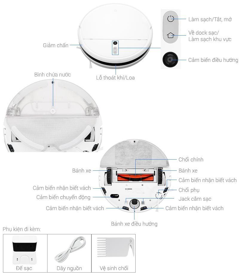 Thông số kỹ thuật Robot hút bụi lau nhà Xiaomi Vacuum Mop SKV4093GL