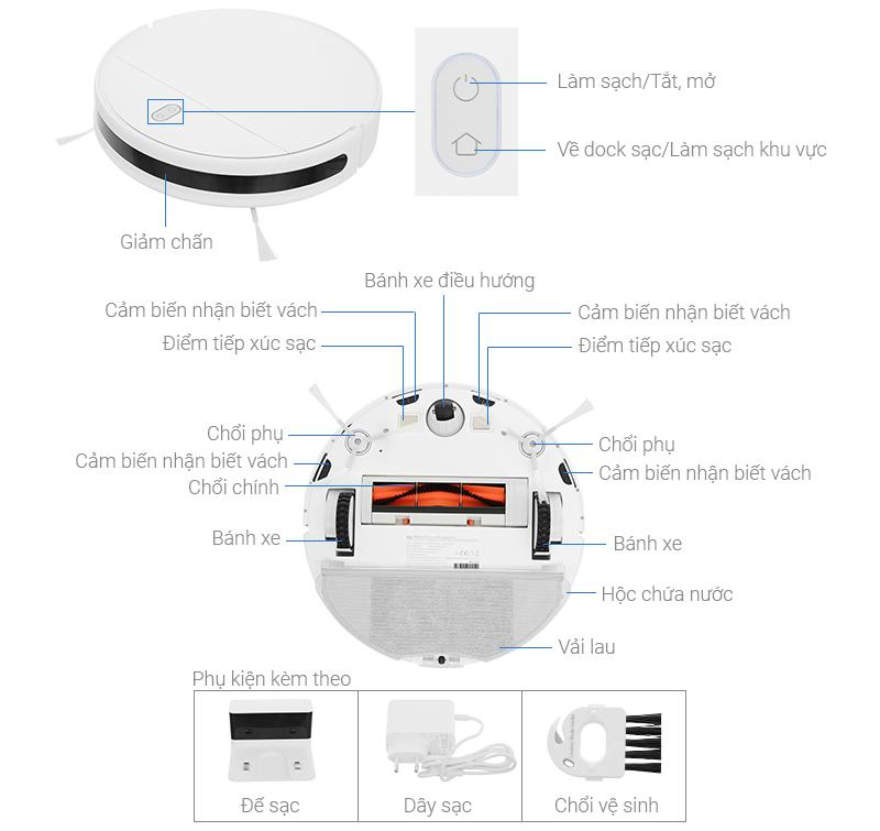 Thông số kỹ thuật Robot hút bụi Xiaomi Vacuum Mop Essential SKV4136GL