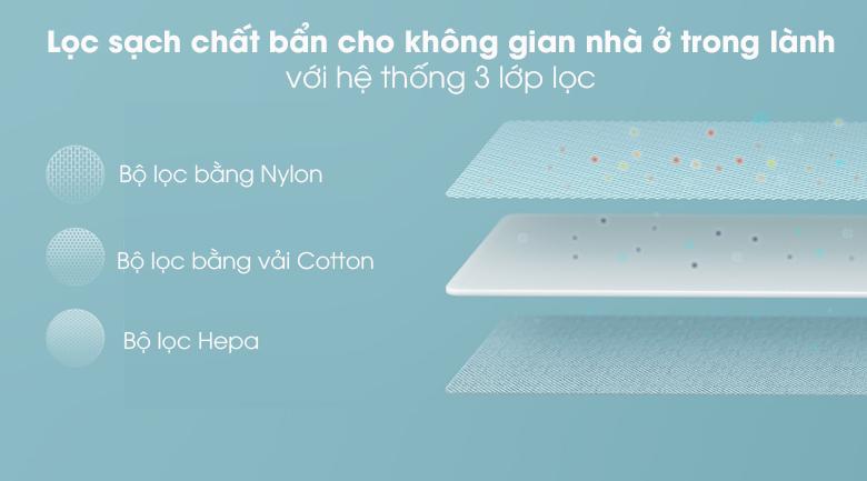 Robot hút bụi Xiaomi Vacuum Mop Essential SKV4136GL - Hệ thống lọc bụi 3 lớp