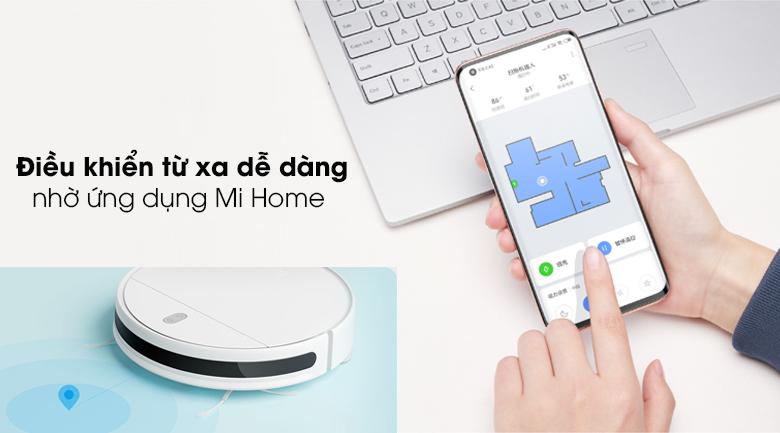 Robot hút bụi Xiaomi Vacuum Mop Essential SKV4136GL - Điều khiển từ xa qua điện thoại với ứng dụng Mi Home