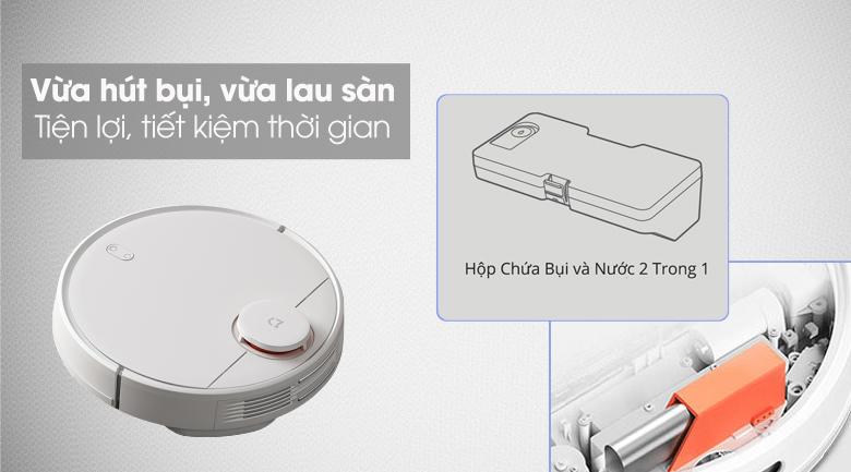 Dùng hộp chứa bụi - Robot hút bụi Xiaomi Vacuum Mop Pro SKV4110GL