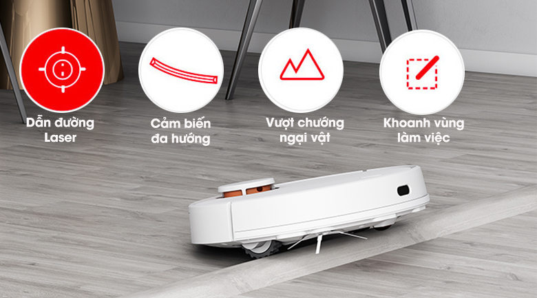 Hoạt động thông minh - Robot hút bụi Xiaomi Vacuum Mop Pro SKV4110GL