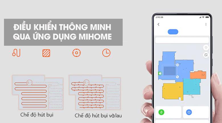 Điều khiển qua MiHome - Robot hút bụi Xiaomi Vacuum Mop Pro SKV4110GL