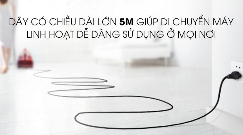 Dây điện dài 5m - Máy hút bụi Panasonic MC-CL571GN49 1600W