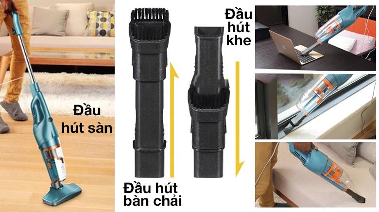 Trang bị 3 đầu hút - Máy hút bụi cầm tay Deerma DX900