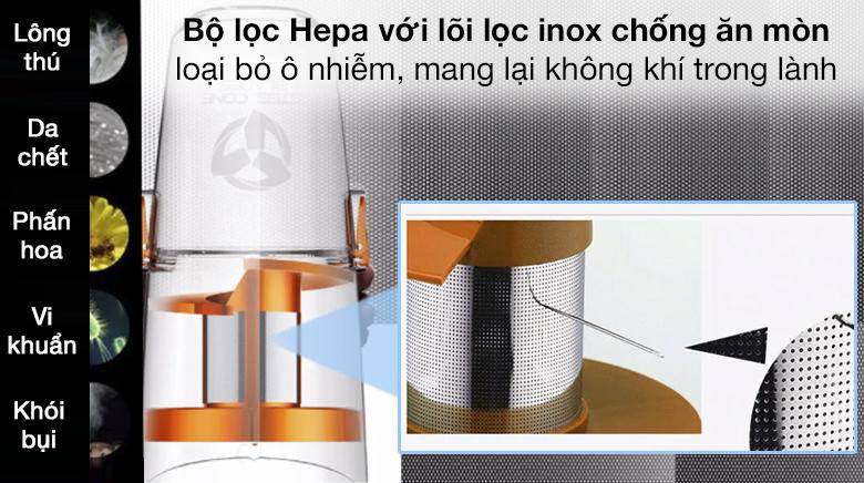 Bộ lọc HEPA lõi inox - Máy hút bụi cầm tay Deerma DX900