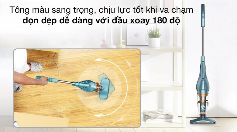 Thiết kế đầu xoay 180 độ - Máy hút bụi cầm tay Deerma DX900
