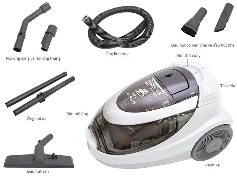 Thông số kỹ thuật Máy hút bụi Hitachi CV-SH18 1800 W