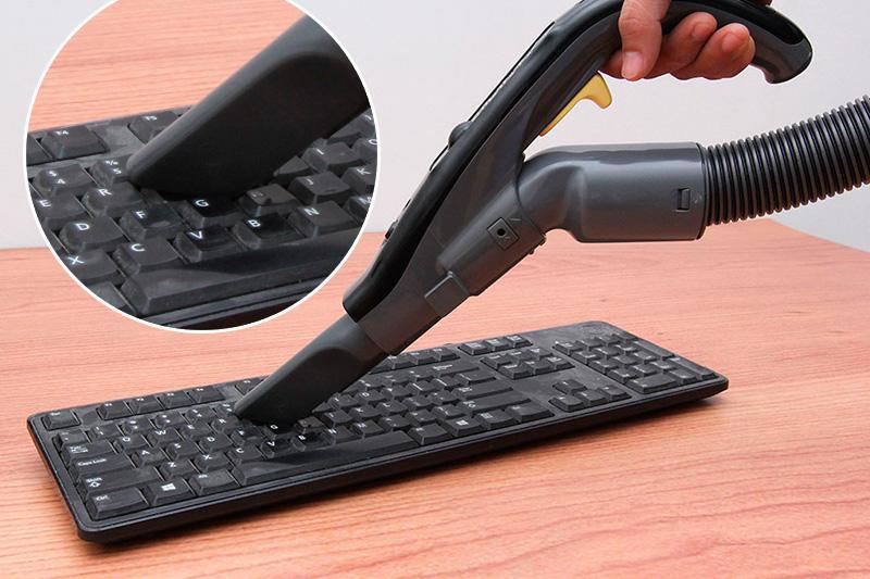 Đầu hút khe để làm sạch bàn phím, màn treo cửa