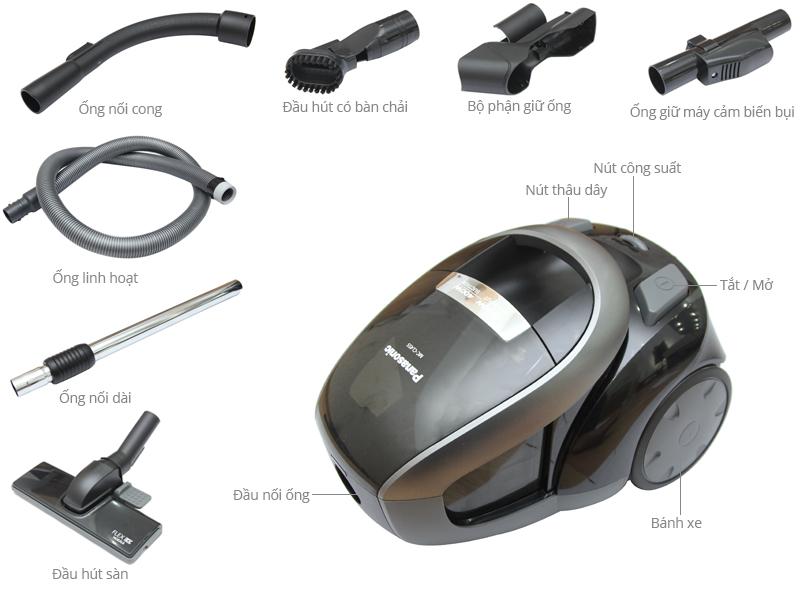 Thông số kỹ thuật Máy Hút bụi Panasonic PAHB-MC-CL455KN46 2000 W