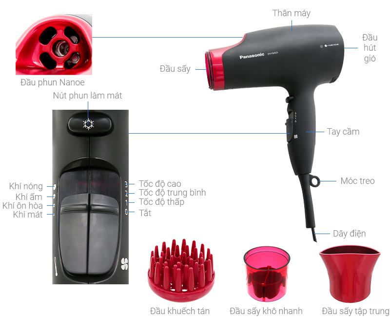 Thông số kỹ thuật Máy sấy tóc Panasonic EH-NA65-K645