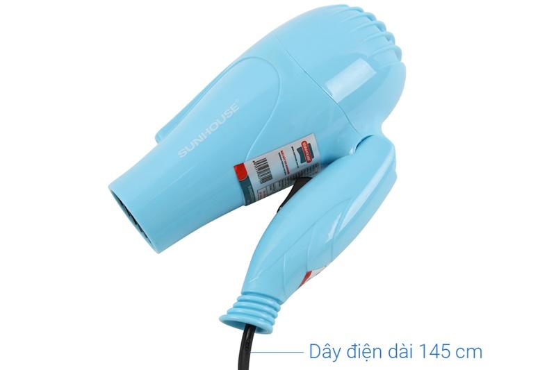 Máy có dây điện dài 145 cm - Máy sấy tóc Sunhouse SHD2305 xanh