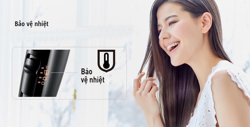 Bảo vệ chất tóc, da đầu tối ưu với chế độ bảo vệ nhiệt - Máy sấy tóc Panasonic EH-NE65-K645
