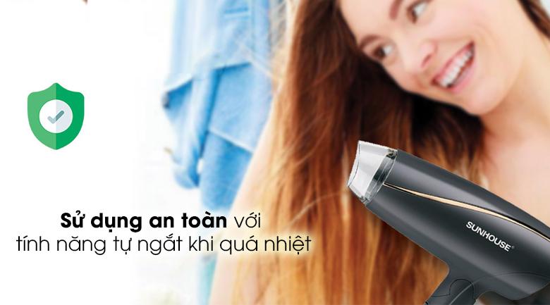 Máy sấy tóc Sunhouse SHD2306 - Bảo vệ người dùng