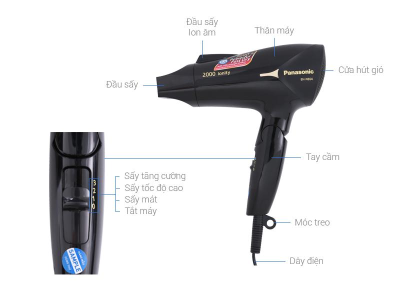 Thông số kỹ thuật Máy sấy tóc Panasonic EH-NE64-K645