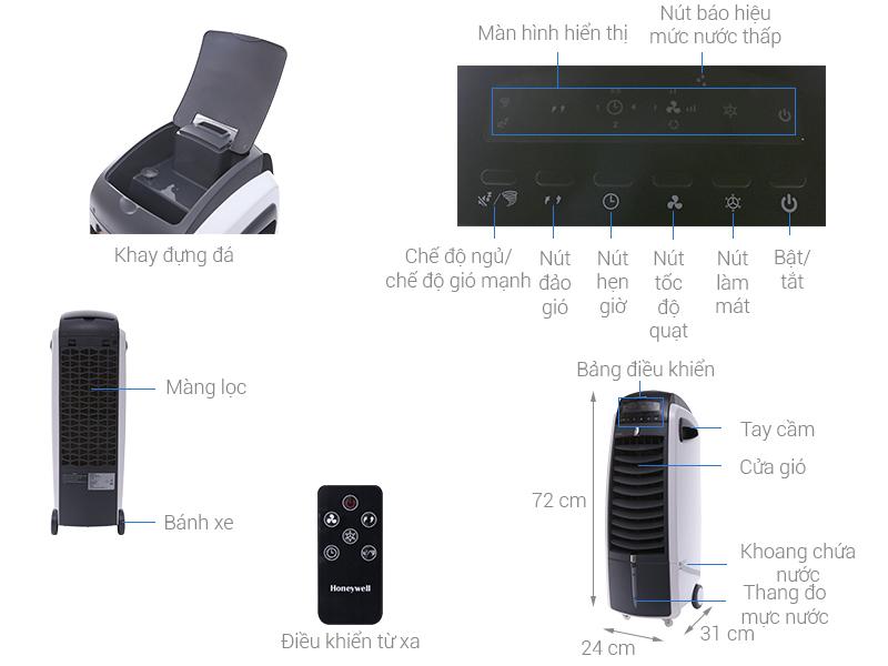 Thông số kỹ thuật Quạt điều hòa Honeywell ES800