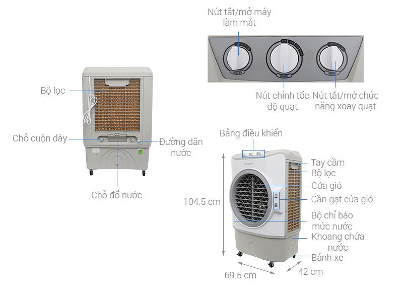 Thông số kỹ thuật Máy làm mát không khí Kangaroo KG50F30
