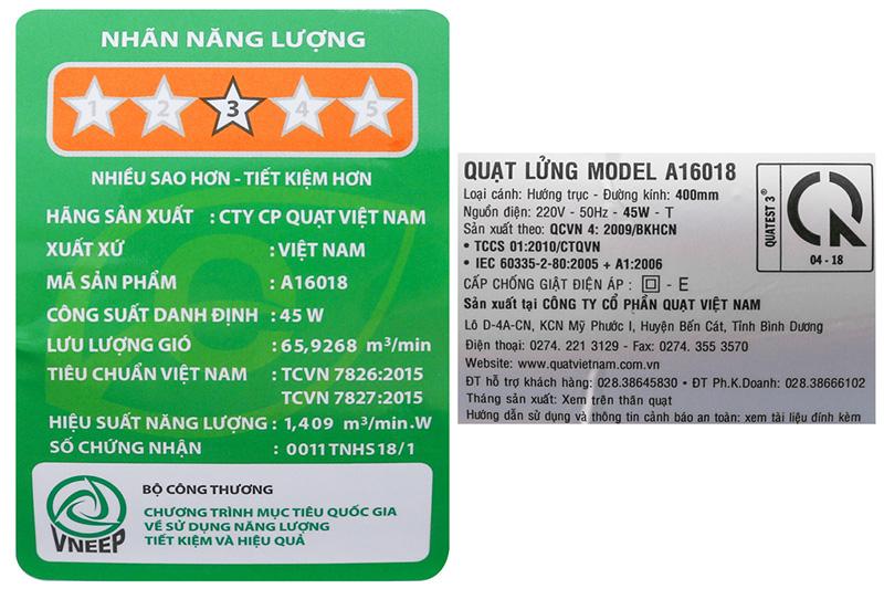 Quạt lửng Asia A16018 xanh lam-7